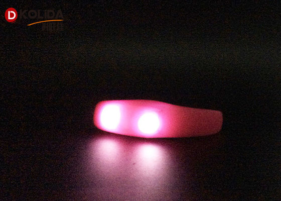 Silicon Waterproof Control Flashing LED Armband Bracelet Bangle Wristband Night Club Jogging